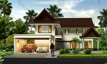 รวมแบบบ้าน Architect-BKK.com แบบบ้านสองชั้น แบบบ้านสามชั้น